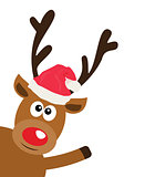 Vector Funny Reindeer