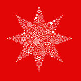 Christmas star on red