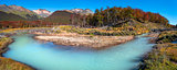 Panoramic landscape of Tierra del Fuego National Park, Patagonia