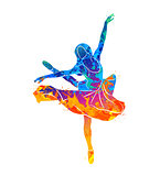 dancing girl colorful