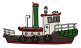 Funny steam tugboat