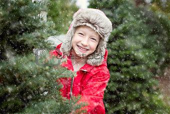 kid at winter