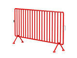 Red mobile fence