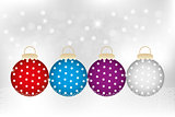 Decorative Christmas baubles
