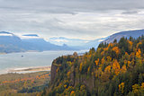 Fall Foliage at Crown Point Columbia River Gorge