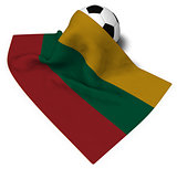soccer ball and flag of lithuania - 3d rendering