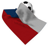 soccer ball and flag of the Czech Republic - 3d rendering