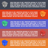 Info graphics elements of garbage in isometric, vector illustration.