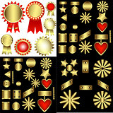 Set of decorative patterned awards