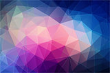 bright color polygonal wallpaper