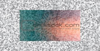 Abstract horizontal background of small square shapes.