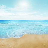 Clear sky and island beach