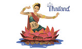 art drawing of Thailand Dancing art, Thai Classical Dance