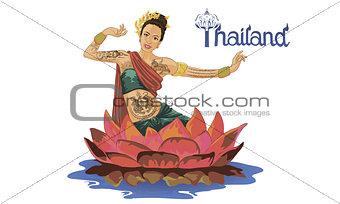 art drawing of Thailand Dancing art, Thai Classical Dance