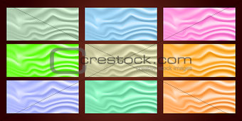 Background vector. Beautiful collection satin texture. EPS10.