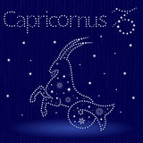 Zodiac sign Capricornus with snowflakes