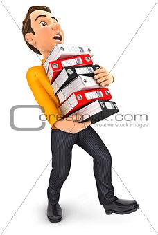 3d man overworked