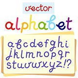 Vector English alphabet