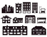 Houses buildings architecture icon