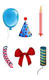 Set of objects for celebration