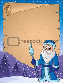 Father Frost theme parchment 1