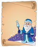 Father Frost theme parchment 2