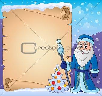Father Frost theme parchment 3