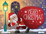 Santa Claus with big gift bag theme 3