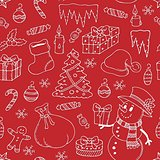 Seamless background Christmas 3