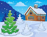 Winter cottage theme image 2