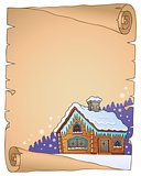 Winter cottage theme parchment 1