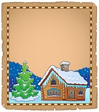 Winter cottage theme parchment 2