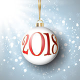 Happy New Year bauble background