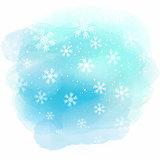 Christmas snowflakes on watercolour texture