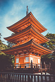 Pagoda at the kiyomizu-dera temple, Kyoto, Japan