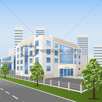 hospital building on a city street