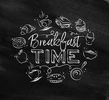 Monogram breakfast time chalk