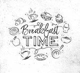 Monogram breakfast time