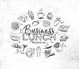 Monogram business lunch