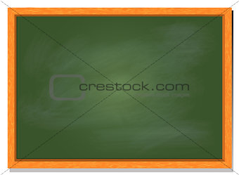 Green board with wood frame, vector illustration design