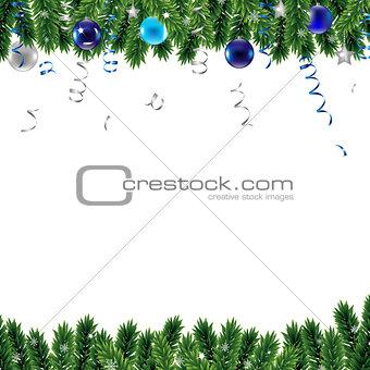 Christmas Border With Snowflacke
