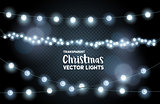 silver glowing christmas lights collection