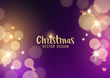 Pink and Gold sparkling christmas background