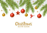 Christmas festive background border design