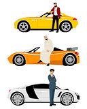 Arab men and expensive cars