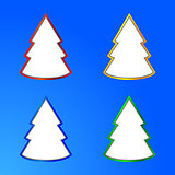 Abstract cut out Christmas tree collection