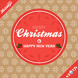 Christmas banner background brown and red