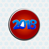 Twenty Eighteenth New Years decorated date border