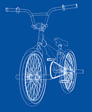 Bicycle bmx. Vector