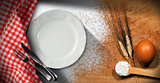 Baking Background with Empty Plate